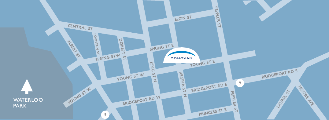 location map for Donovan Insurance